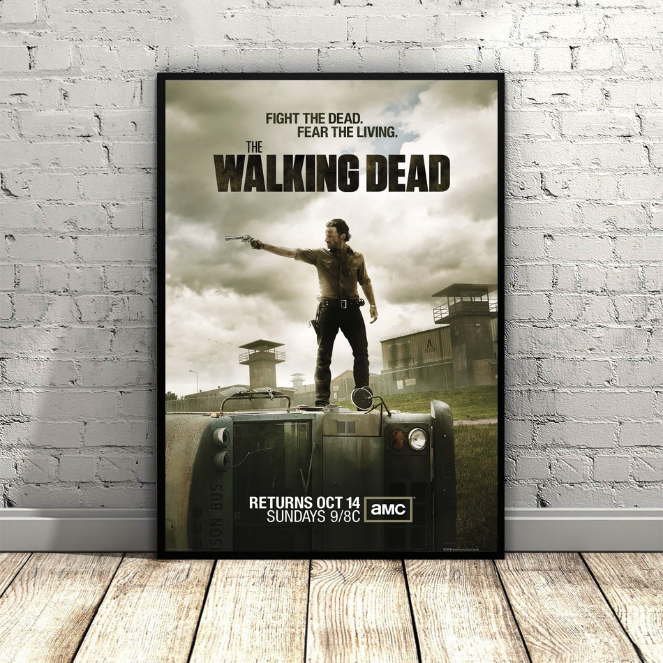 American popular TV The Walking Dead Season posters Wall Art Screen Poster