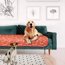 Трехслойный коврик для собак, водонепроницаемый, ПВХ, пеленки, одеяло, милый рисунок, водопоглощающее, для домашних животных, кошек, мочи, коврик, многоразовый, мочи, матрас, подушка