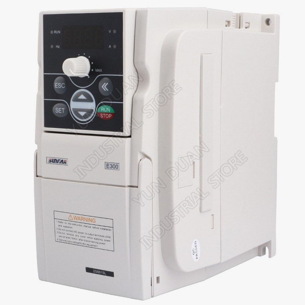 Convertisseur de fréquence universel SUNFAR 0.4KW 400 W 220 V 1PH 3PH 1000Hz VVV/F SVC VFD pour contrôleur de ventilateur d'air de broche de routeur