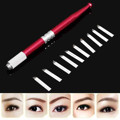 1pcs Embroidery Eyebrow Tattoo Manual Pen + 10pcs 7 Needle Eyebrow Microblading New Professional Tattoo Eyebrow Supply Kit