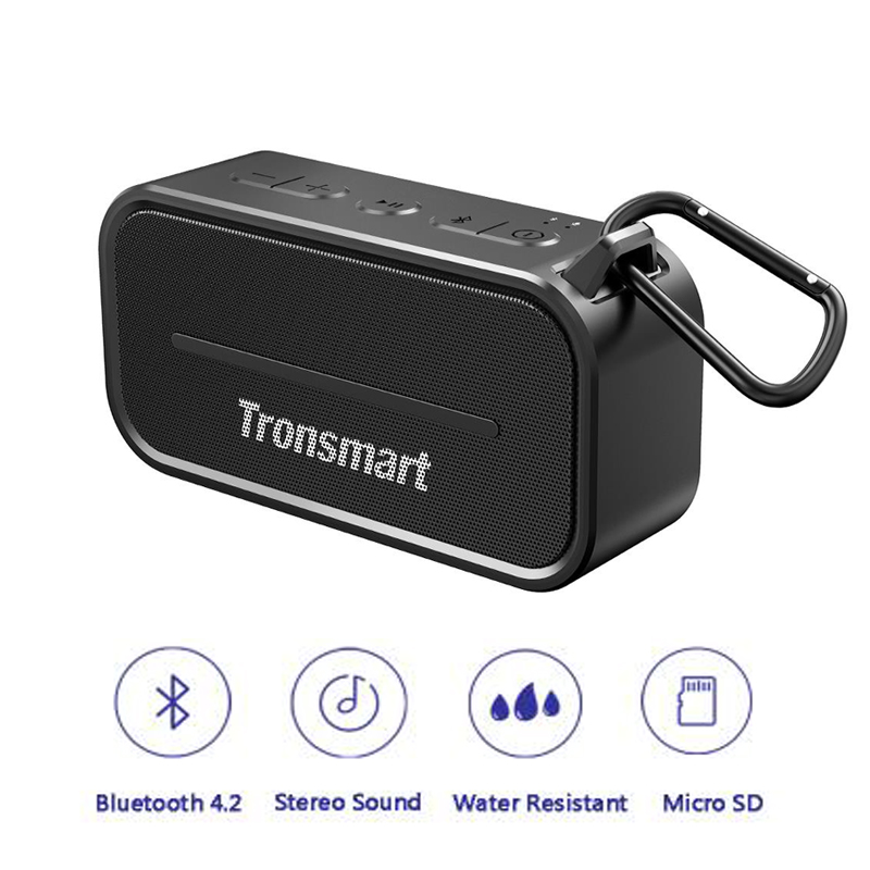 Tronsmart Element T2 Bluetooth 4.2 Outdoor Water Resistant Speaker Portable and Mini Speaker for IOS Android Xiaomi Smart Phones tronsmart element t6 mini bluetooth speaker portable wireless speaker with 360 degree stereo sound for ios android xiaomi player