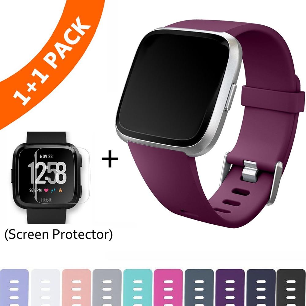 Сменный ремешок для Fitbit Versa/Versa Lite, мягкий силиконовый водонепроницаемый браслет, Аксессуары для браслета Fit bit Versa