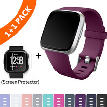 Replacement Band For Fitbit Versa/Versa Lite Starp Soft Silicone Waterproof Wrist Accessories Strap For Fit bit Versa Bracelet