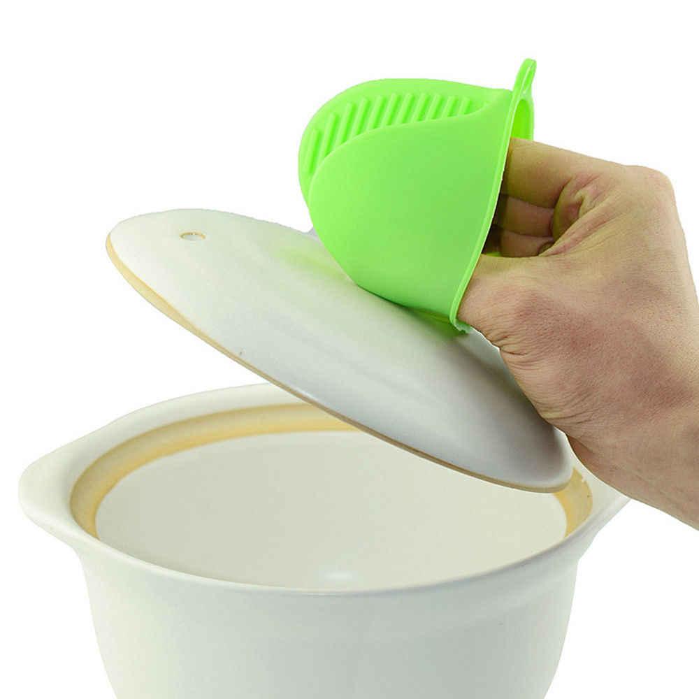 1 ud. Guante de silicona resistente al calor para horno, pinza de dedo corto para horno, práctico soporte para ollas, herramienta para el hogar