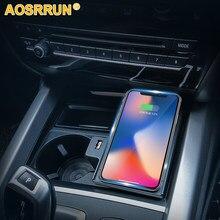 Carro do telefone móvel 15w qi módulo almofada de carregamento sem fio acessórios do carro para bmw x5 f15 2016 2017 2018
