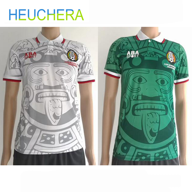 545036c9e HEUCHERA 1988 Limited Edition Commemorative Edition Mexico 1998 Retro  Jerseys Home away Mexico Football top Soccer Jerseys