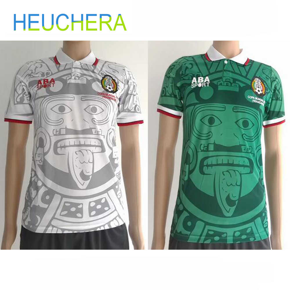 031a48c4ff0 HEUCHERA 1988 Limited Edition Commemorative Edition Mexico 1998 Retro  Jerseys Home away Mexico Football top Soccer
