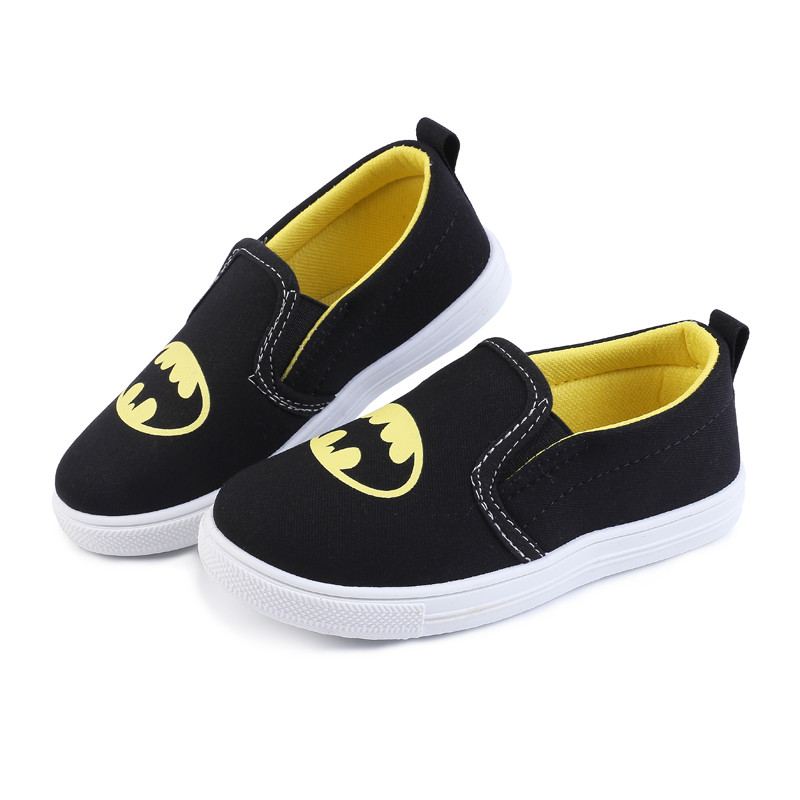 Mumoresip New Fashion Kids Shoes Exclusive Super Heroes Batman Superman For Boys Toddler Boy Soft Sneakers Slip-on Loafers Flats