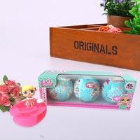 3pcs 9cm LOL Surprise Doll Surprise Inside 2 L O L Ball Xmas For Kids Toys