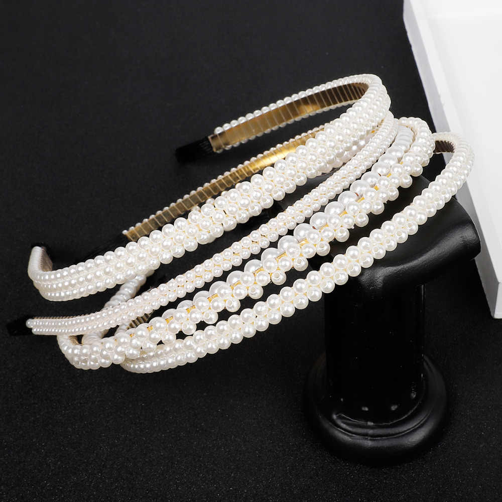 New Sample design Imitation Pearl Hair Band Girls Hair Accessories Women Headband Wedding Party Bridal Hair Hoop