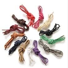 Кожаной мартин воском веревки цветные строки шнур шнурки сапоги круглый спортивная