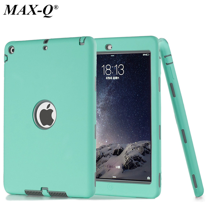 HOT! case For iPad 5 Cover Shockproof Kids Protector Case for apple ipad air 1 case cover PC+Silicone Hybrid Robot+Stylus Pen