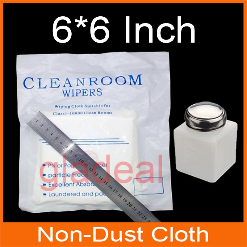 6*6 Inch Non-Dust Cloth Cleanroom Wiper With Alcohol Bottle for Laptop Phone LCD PCB Electronic CLean ld7530pl ld7530 sot23 6