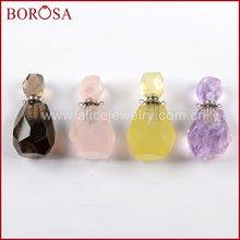 Borosa 3/5 шт парфюмерный флакон драгоценные камни граненые