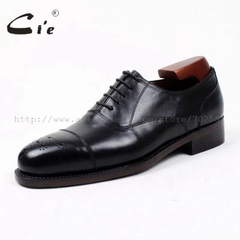 bbf28b11fe90 cie high quality custom handmade genuine calf leather upper outsole dress  work men s oxford shoe flats blackOX393 Goodyear welt-in Formal Shoes from  Shoes ...