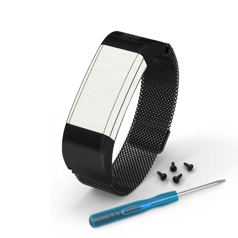 Magnetic Stainless Steel <font><b>Watch</b></font> Band for Garmin Vivosmart HR+ Approach <font><b>X10</b></font> X40 <font><b>Watch</b></font> Replacement Wristwatch Band <font><b>Watch</b></font> Strap image