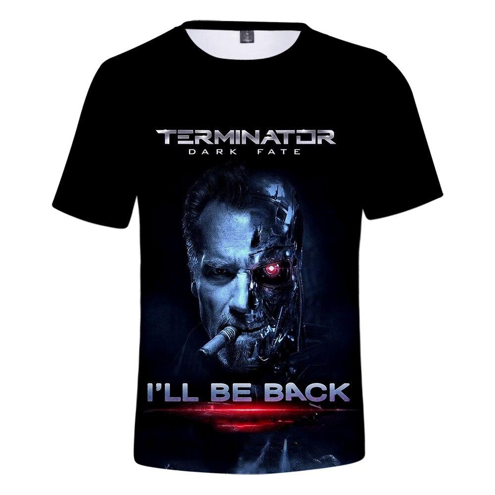 2019 T Shirt Men/women Movie Terminator Arnold Schwarzenegger I Will Be Back 3D Print T-shirts Harajuku Tshirt Streetwear Top