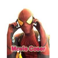 NewMovie Coser High Quaity Custom Made Spandex Super Hero The Amazing Spider Man 1 Cosplay Costume Adult Spandex Spiderman Suit