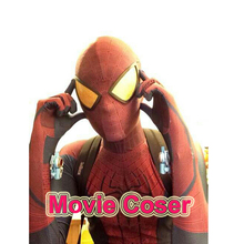 NewMovie Coser High Quaity Custom Made Spandex Super Hero The Amazing Spider Man 1 Cosplay Costume Adult Spandex Spiderman Suit