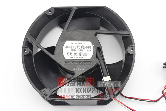 Ventilador 17 cm CPU 12 V grande vento do ventilador ventilador de refrigeração do carro EFB1512HHG