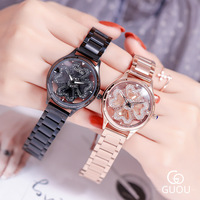 New Steel Ribbon Wheeldrills Women's Watch Douyin Network Celebrity and Waterproof Watch small watch