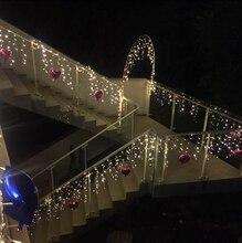 Сосулька сказочных уличные огней занавес строки фонари рождественские декор свадьба огни