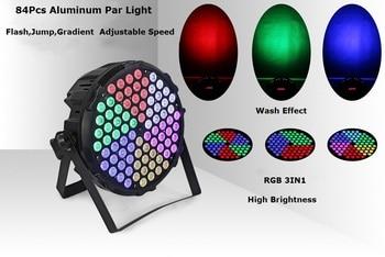 84X3W RGB Full Color LED Par Light Dj Par Cans Aluminum Alloy DMX512 Light DMX Dj Disco Wash Lighting Stage Lights Fast Ship цена 2017