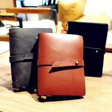 Endless Story S Small Real Genuine Cowhide Leather Travel Journal Business Notebook Study Diary Blank Lined Grid Papers