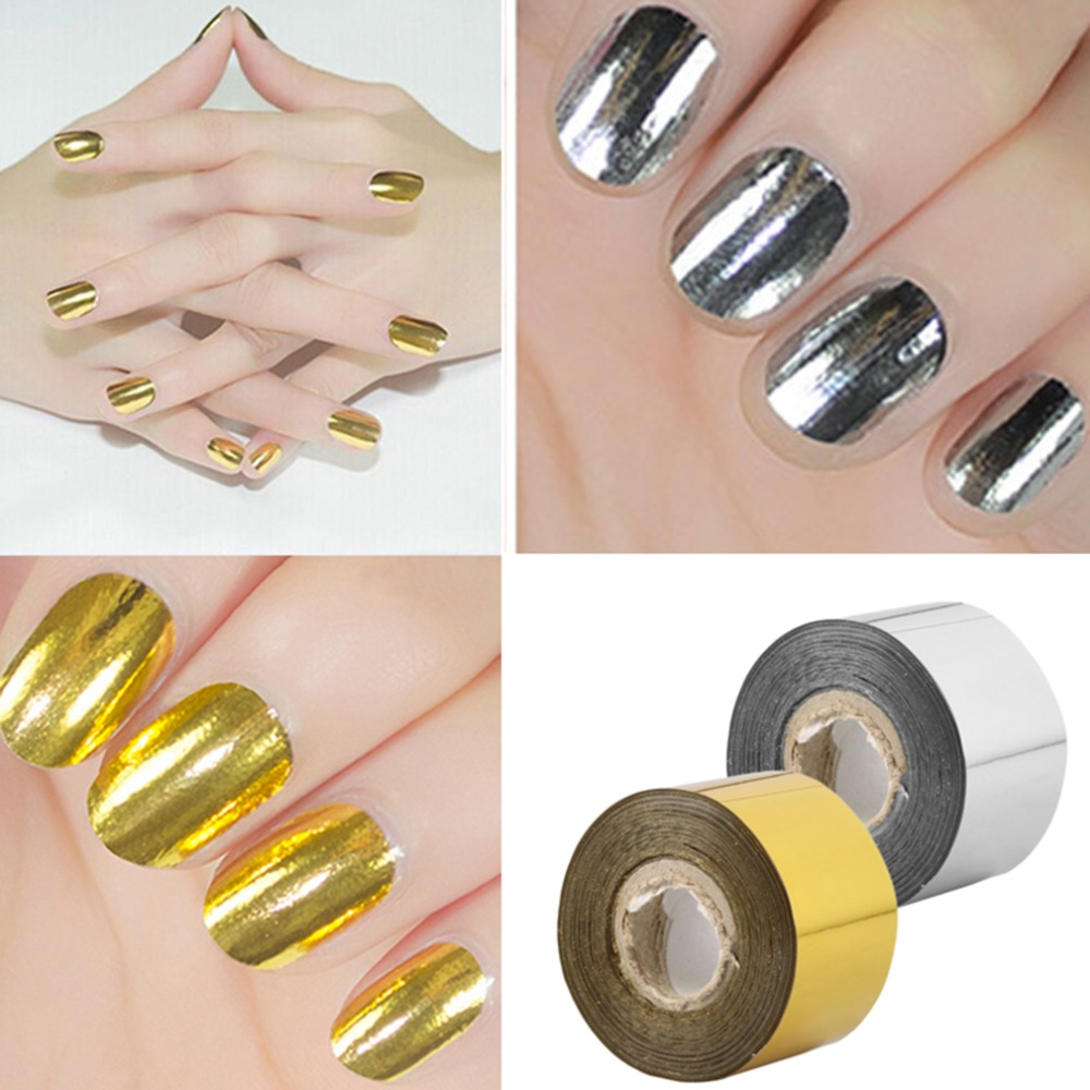 Fashion DIY Nail Sticker Wrap Foil Transfer Nail Art Roll Tape Decoration brand new and high quality quality guarantee yellow matte vinyl wrap film foil car sticker with air bubble free fedex free shipping size 1 52 30m roll