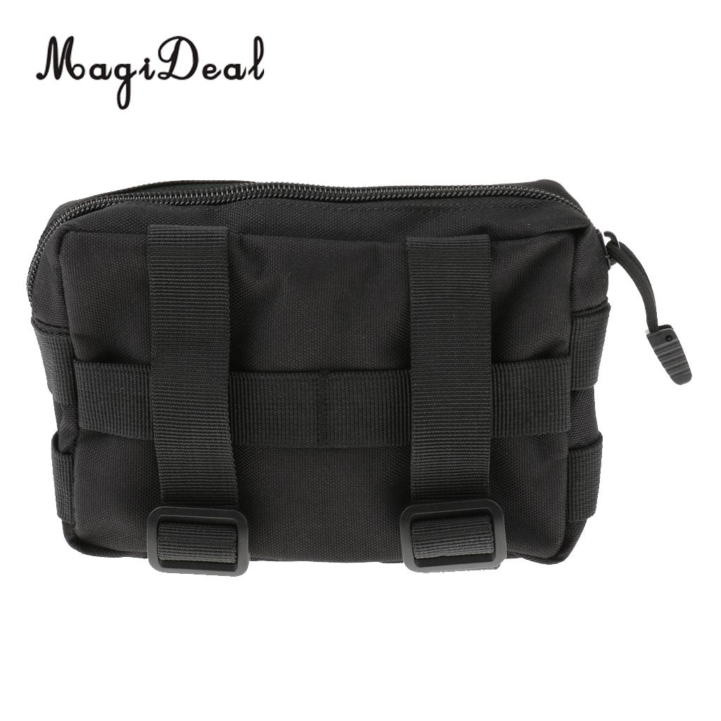 MagiDeal Outdoor Sports Molle Tactical Waist Bag Phone Belt Loop Bum Fanny Pack Black for Camping Hiking Running Travell Acce