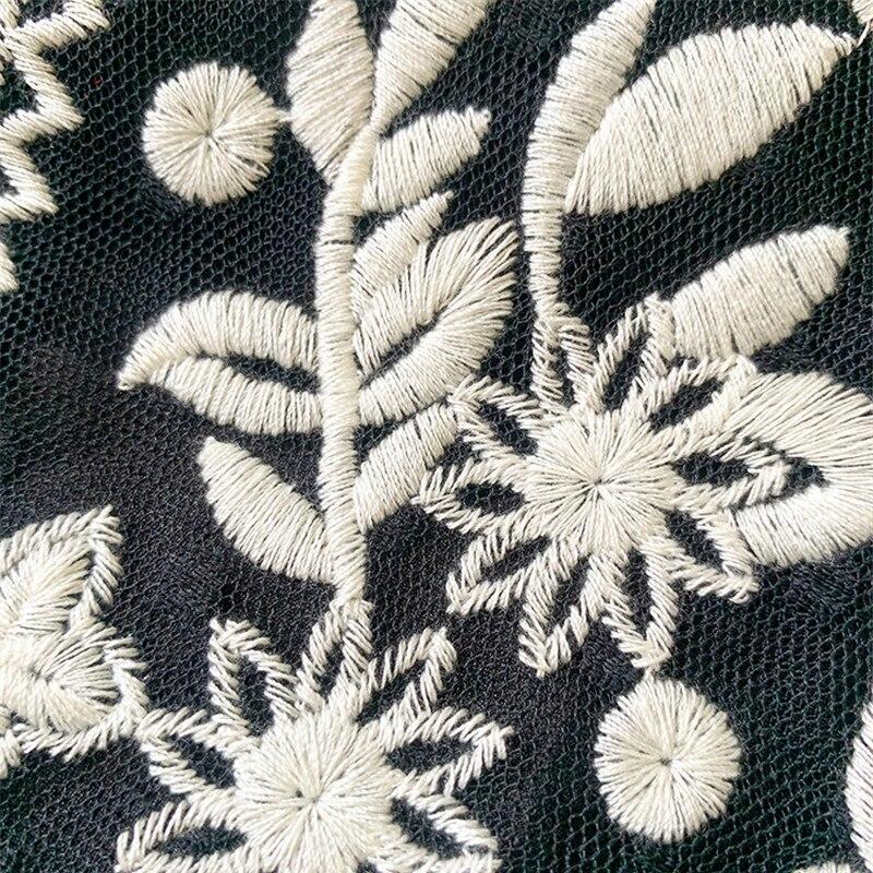 Red RoosaRosee дизайнерская Осенняя женская элегантная белая кружевная рубашка со стоячим воротником вышивка аппликация длинный рукав фонарик б... - 6