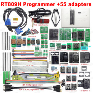 Image 3 - 100% Original New RT809H EMMC Nand FLASH Universal Programmer TSOP56 TSOP48 EDID Cable ISP Header01 VGA HDMI BGA63 BGA64 BGA169