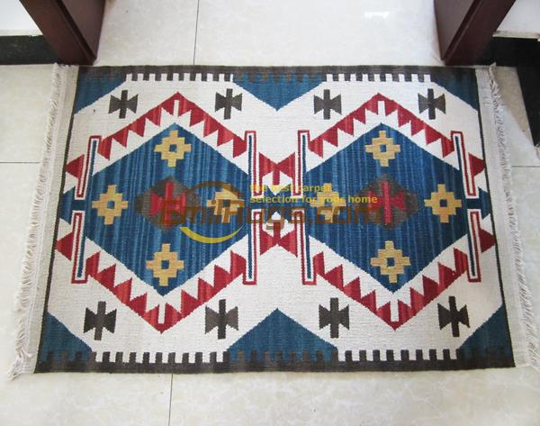 Kilim pure manual wool woven mat carpet thin fish-friendly easy to clean Foreign national wind tapestries gc149-7