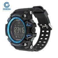 חכם שעון ספורט שעוני יד Waterproof ספורט דיגיטלי LED חיצוני אלקטרוני אינטליגנטי חכם שעון מד צעדים שעוני יד גברים