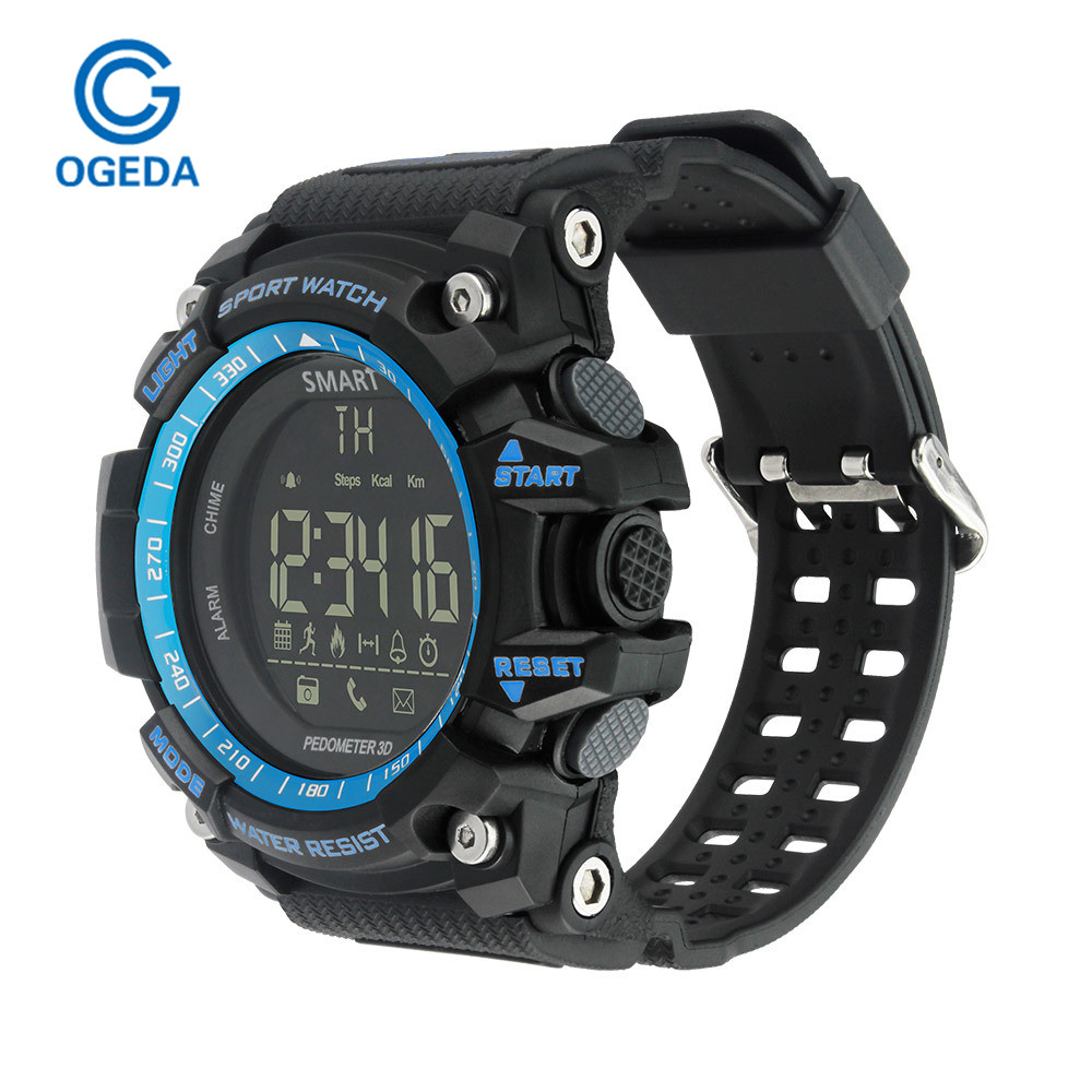 Montre Smart Watch Sport LED En Plein Air Électronique Intelligent Montre-Bracelet Étanche Sport Numérique Montre Smart Watch Podomètre Montre-Bracelet Hommes