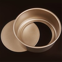 New 6 8 Gold Color Non Stick Round Steel Cheesecake Baking Pan Mould Premium Loose Base