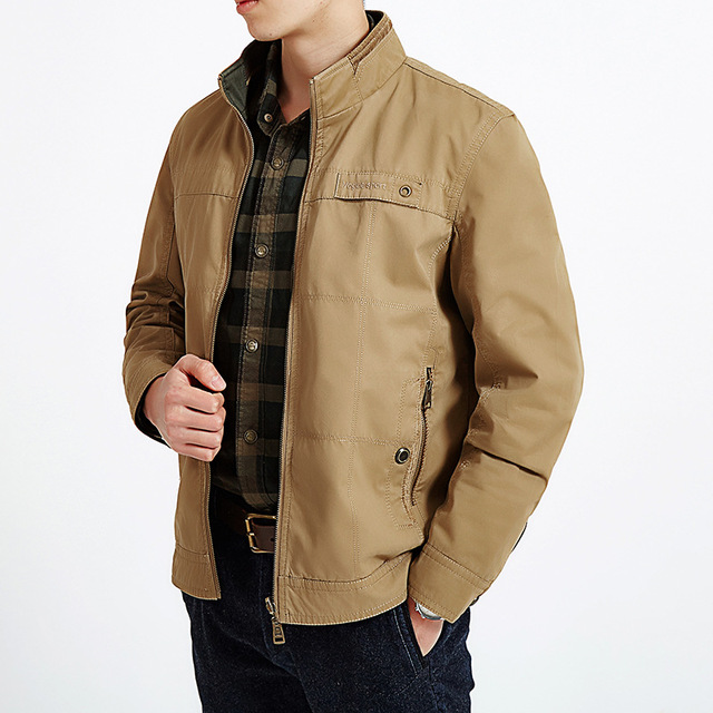 YuWaiJiaRen 2018 New Arrival Mens Spring Jacket casual cotton Bomber Jacket Army Fashion Stand ...