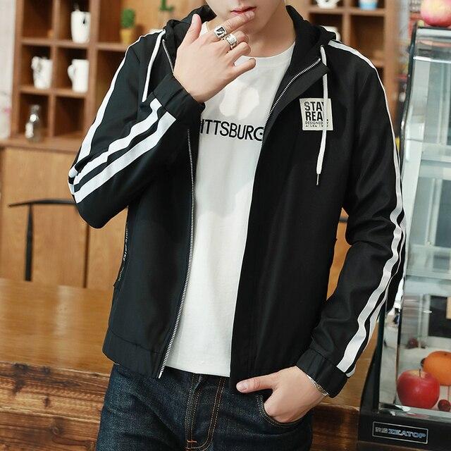 2fc61f7bef Hooded Jacket Men 2017 New male Jacket coat Boy popular Hot sale Top  Fashion Business Casual
