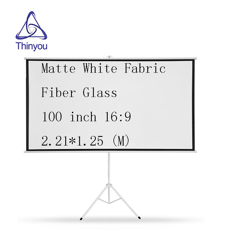 Thinyou 100 Inch 16 9 Portable font b projector b font screen Matte White Fabric Fiber