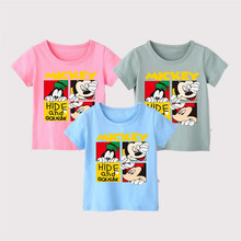 Baby Boys Girls Tees Cotton Cartoon Animals Print Summer Kids tshirts Boys Clothing Short Sleeve Casual Children's T shirts