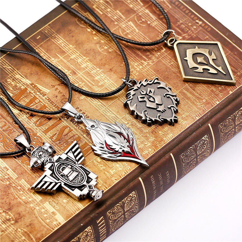 ORP Anime game peripheral products Accessories necklace jewelry World of Warcraft WOW The Alliance Tribe Union logo necklace