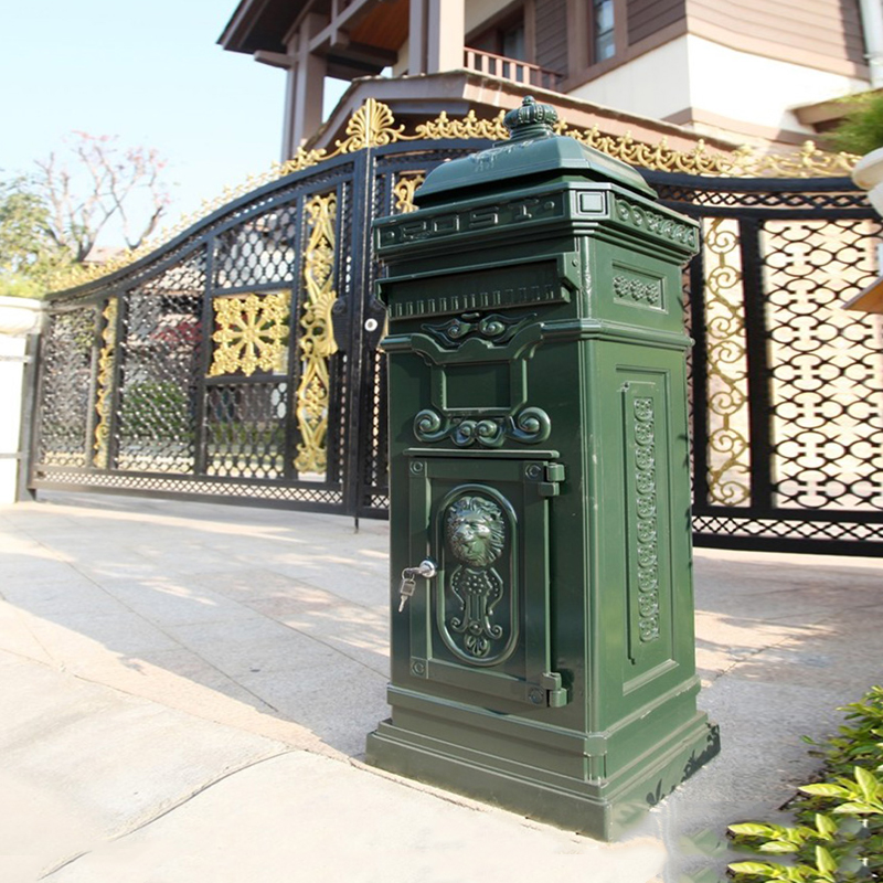 Floor Standing Post Box Letterbox Victorian Style Black Aluminium Metal Mailbox In Mailbo From Home Garden On Aliexpress Alibaba Group