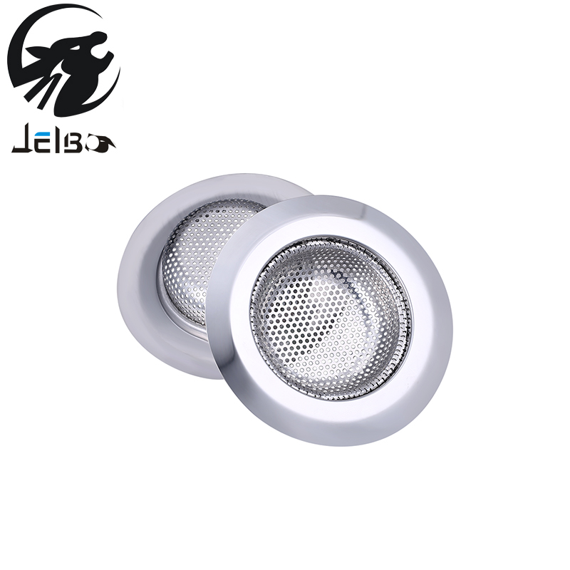 Jelbo 2Pcs Stainless Steel Filter Hair Colanders Stopper Kitchen Sewer Drain Metal Drain Accessories Bathroom Sink Accessories