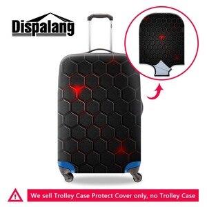 Прямая поставка, геометрические чехлы для багажа из спандекса для мужчин, эластичные Чехлы для чемоданов, крутые аксессуары для путешестви...