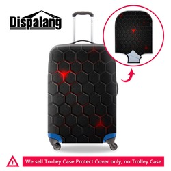 Dropshiping Geometric Spandex Luggage Cover for Men Bulk Elastic Suitcase Protector Cool Custom Travel Accessories Airlines
