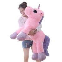 80cm/110cm Big size Unicorn plush toys stuffed toy for children girls Christmas gift baby kids toy