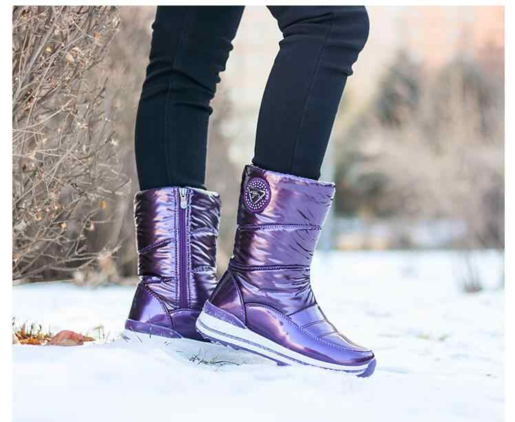 02275b9137f High quality women boots 2018 new arrivals waterproof thick fur winter  shoes slip-resistant women platform snow boots -40 n541