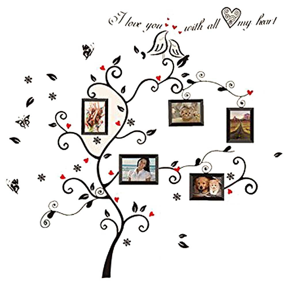 Family Tree Design Ideas awesome family tree design Home Decor Vinilos Paredes Family Tree Wall Decals Stickers Poster On The Wall Stickers Tree Wallpaper Kids Room Photoframe Art In Wall Stickers From Home