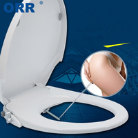 Non Electric Double Toilet Bidet Seat Cover Plastic Shattaf Bathroom Bidet Attachment Ass Buttocks Washing ORR