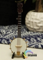 Handmade five string harp, banjo model traditional Chinese gifts, home furnishings